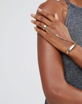 Low Luv x Erin Wasson Gold Plated Ring And Hand Harness