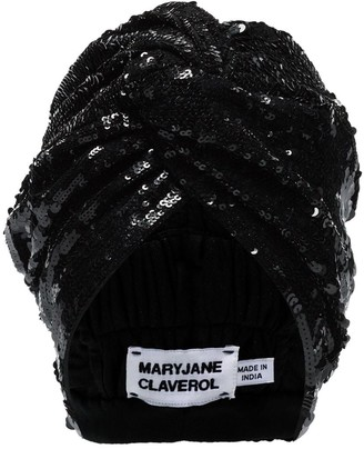 MaryJane Claverol Adele beaded sequin turban