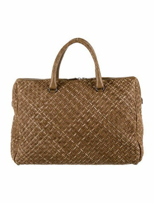 Bottega Veneta Intrecciato Leather Tote Bag Brown
