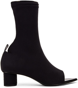 Jil Sander Open Toe Bootie in Black | FWRD