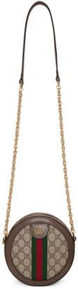 Gucci Beige GG Supreme Round Ophidia Shoulder Bag