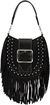 DSQUARED2 Fringed Leather Shoulder Bag