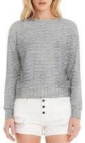 Michael Stars Women's Stripe Crop Sweatshirt