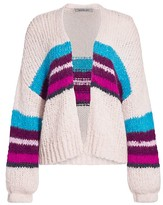 360 Cashmere Izabel Stripe Open-Front Wool-Blend Cardigan