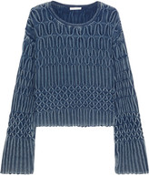 Chloé Cable-knit Cotton Sweater - Mid denim