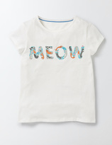 PJ T-Shirt MEOW Logo Girls Boden