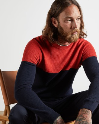 Ted Baker Colour Block Knitted Jumper