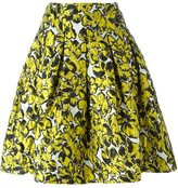 Oscar de la Renta floral print skirt - women - Polyester/Nylon/Silk - 2