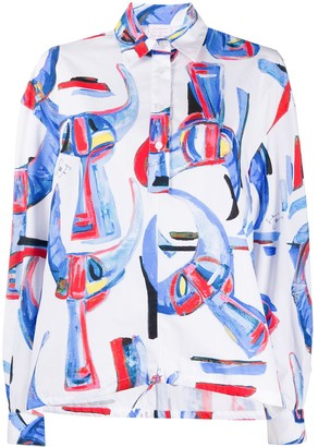 Stella Jean Watercolour Print Shirt