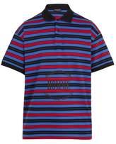Balenciaga Striped Homme-embroidered cotton-piqué polo shirt