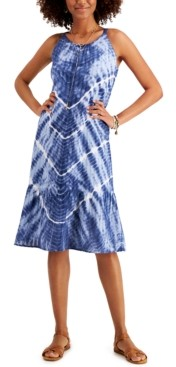 Style&Co. Style & Co Tie-Dyed Midi Dress, In Regular and Petite, Created for Macy's