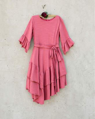 Joyfolie Jersey Tiered Ruffle Dress