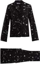 ROCKINS UFO-print silk-crepe pyjama set