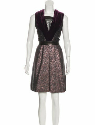 Sophie Theallet Metallic Sleeveless Dress grey