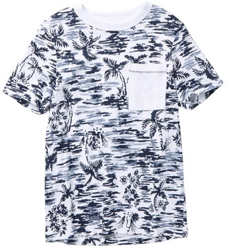 Joe Fresh Palm Print Jersey Pocket T-Shirt (Big Boys)