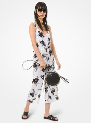 MICHAEL Michael Kors Floral Crepe Belted Jumpsuit