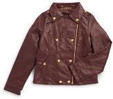 Jessica Simpson Girls 7-16 Asymmetric Leatherette Jacket
