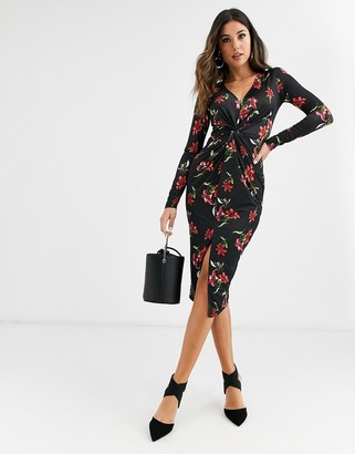 UNIQUE21 floral gathered front dress