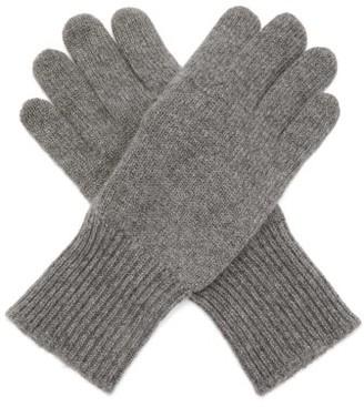 Brunello Cucinelli Suede-panelled Cashmere Gloves - Grey