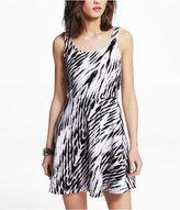 Express Ikat Print Skater Dress