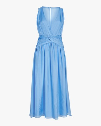 Divine Heritage Sleeveless V Neck Midi Dress