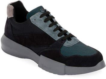 Giorgio Armani Men's Leather & Mesh Training Sneakers