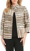 IC Collection Striped Back Button Detail Jacket