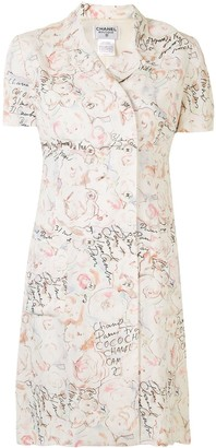 Chanel Pre Owned 1998 Floral Print Shift Dress
