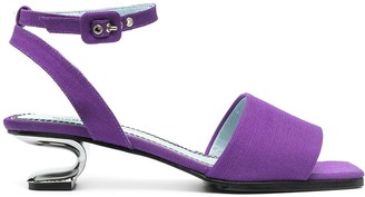 Nicole Saldaña Amanda canvas sandals