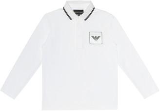 Emporio Armani Kids Logo cotton shirt