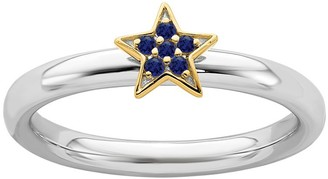 Simply Stacks Sterling Sapphire Star Ring