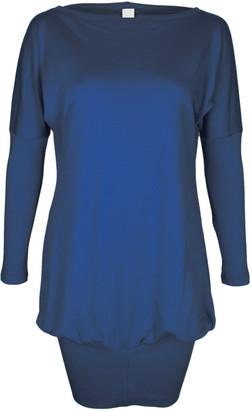 Format POKE Dark Blue Interlock Dress - XS - Blue
