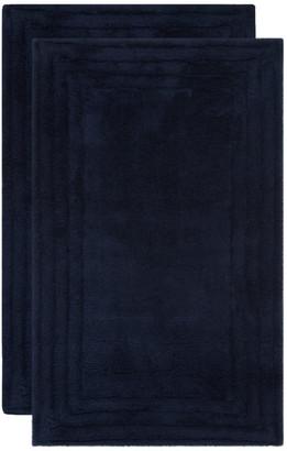 "Safavieh Bath Mats Collection PMB631 Rug, Navy/Navy, 1'9"" X 2'10"""