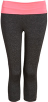 Forever 21 Heathered Fold-Over Performance Capris