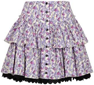 Marc Jacobs The Prairie Floral-print Stretch-cotton Mini Skirt