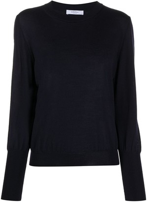 Roseanna Long-Sleeved Embroidered Logo Sweater