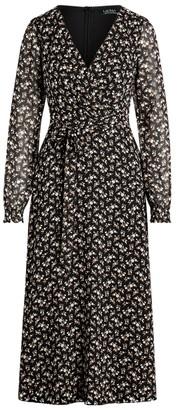 Ralph Lauren Georgette Long-Sleeve Dress