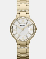 Fossil Virginia Gold-Tone Analogue Watch