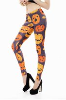 Dasbayla Women Hallowmas Skull Bones Pattern Ankle Length Costume Tight Stretchy Leggings