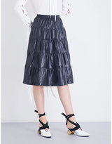 J.W.Anderson Tiered-panel patent-leather skirt