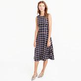 J.Crew A-line dress in silk-twill windowpane print