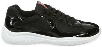 Prada America's Cup Patent Leather & Technical Fabric Sneakers