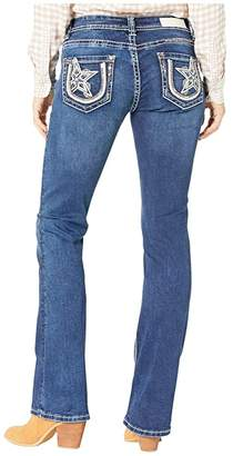Rock and Roll Cowgirl Mid-Rise in Medium Wash W1-3430 (Medium Wash) Women's Jeans