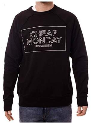 Cheap Monday Men's Rules Sweat Thin Box Sweatshirt, (Black), Small