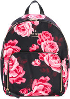 Kate Spade floral print backpack - women - Leather/Polyester - One Size