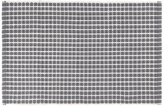 Dash & Albert Gridiron Indoor/Outdoor Rug - Gray 6'x9'