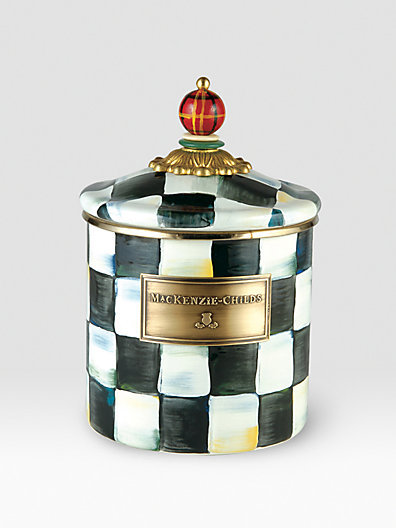 Mackenzie Childs MacKenzie-Childs Courtly Check Enamelware Canister