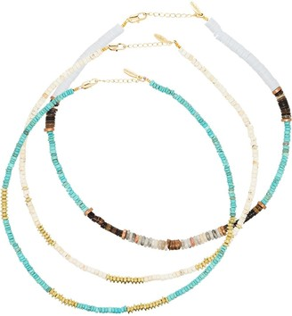 ALLTHEMUST Gold-Plated Beaded Necklace Set