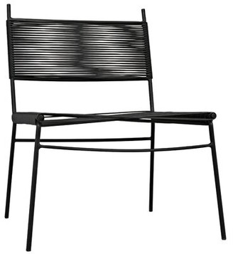 Noir Slat Back Side Chair in Black