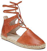 Kenneth Cole New York Beverly Leather Lace-Up Woven Jute Espadrilles